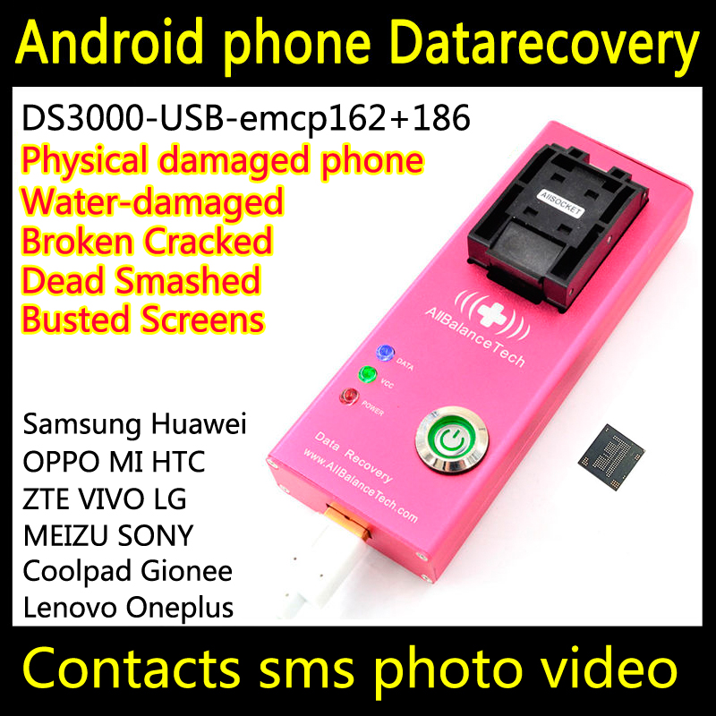 Data recovery android phone DS3000-USB3.0-emcp162+186 tool yotaphone Restore Retrieve contacts Sms Broken water-damaged Dead