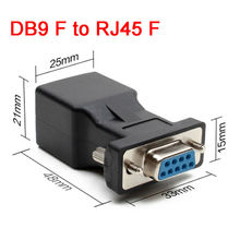 DB9 connector RS232 COM Female to RJ45 Female Connector Convertor DB9 Port to LAN CAT5 CAT6 RJ45 Network Ethernet Cable Adapter(China)