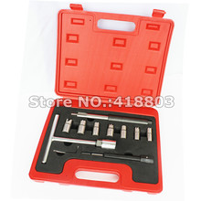 10pcs Diesel Injector Seat Cutter Set Cleaner Carbon Remover Tools Kit