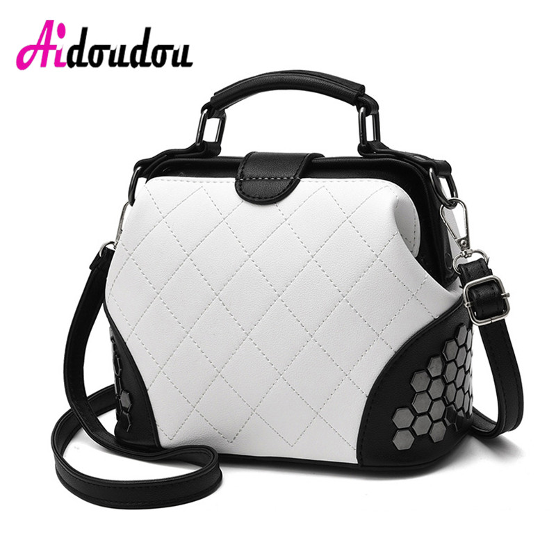 Famous Brand Luxury Handbags Women Bags Designer High Quality Tote Bag For Female Casual Rivet Patchwork Messenger Shoulder Bags<br>