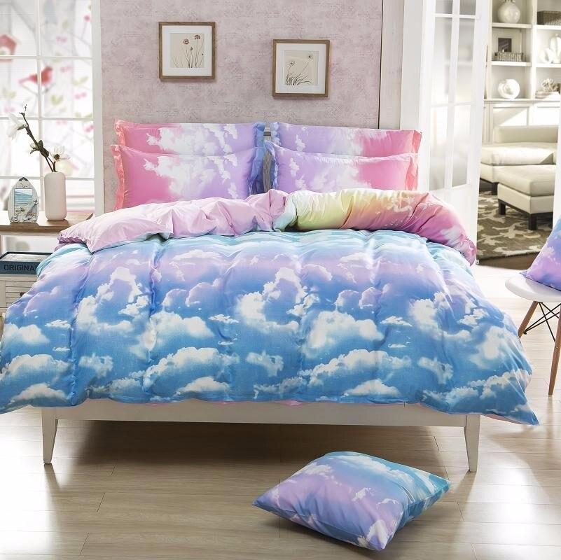 Bedding Set Clouds Duvet Cover Sets Pillowcase Queen Full Twin Single Size 3pcs Hot Sale