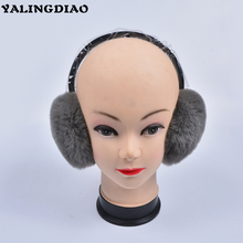 2018 New High Quality Earmuffs For Women Real Fur Winter Ear Protection Fashion Solid Warmer Winter Cute Fur Earmuffs(China)