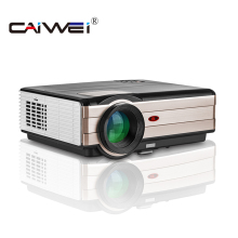 CAIWEI home theatre Latest Led Projector Mobile Phone 4000 Lumens digital projector Video TV short throw for laptop(China)