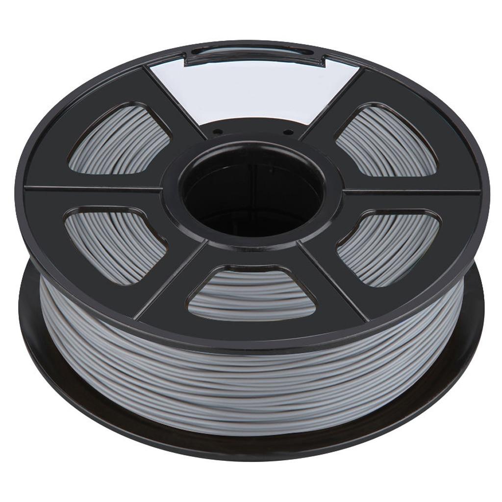 3D Filament 3.0mm PLA for Print RepRap MarkerBot Rapman 1kg/2.2lbs, Silver<br>