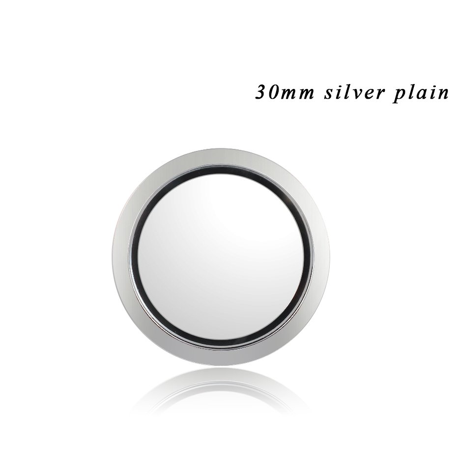Carvort Stick Floating Locket for Cellphone 30mm Stainless Steel Silver Living Lockets Memory Stone Charms Storage Box with 3M- (10)