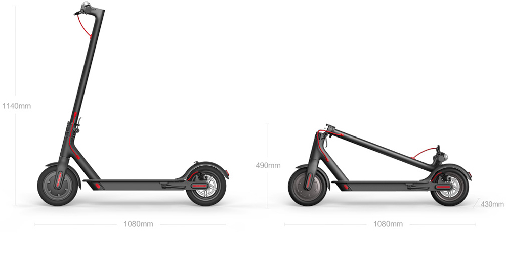 Original Xiaomi Scooter Mijia 2 Wheels Smart Electric Scooter Skate Board Adult Mini Foldable Bike Hoverboard 30km with APP 29