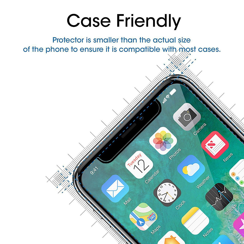 NYFundas For iPhone X Screen Protector Tempered Glass Pelicula de vidro for iPhone 10 8 Plus 7 6 6S 5 5S SE 5SE Film Protection (2)