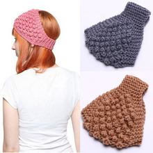 MISM 11 Patterns Girls Solid Knitted Headband High Quality Hair Accessories for Women Crochet Turban Head Wrap Stretch Headwear