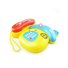 Brand New Colorful Baby Kids Musical Telephone Toys For Toddler Sound Educational Learning Toy(China)