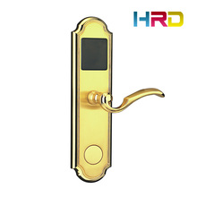 Hotel access control anti-theft rfid card hotel lock 125KHz / 13.56MHz hotel card door lock AA battery powered lock