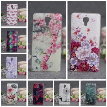 Phone Case for Xiaomi Mi4 Case Silicone Back Soft Cover for Xiaomi Mi 4 Luxury 3D Releif Printing Protection Shell for Xiaomi M4