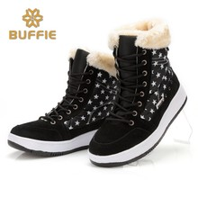 Buffie Women and girls Snow Shoes Skiing Shoes Very Warm Rubber bottom Short Fur Boots Snow Boots -30 Degree
