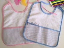 4PCS/Set YB0035 Baby bibs Infant saliva towels Burp Cloths Cross stitch bibs Free shipping