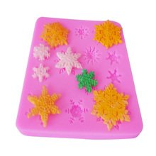 M080 Special Offer cake tools Beautiful snowflake cake decoration silicone molds 8.5X9.2cm M080