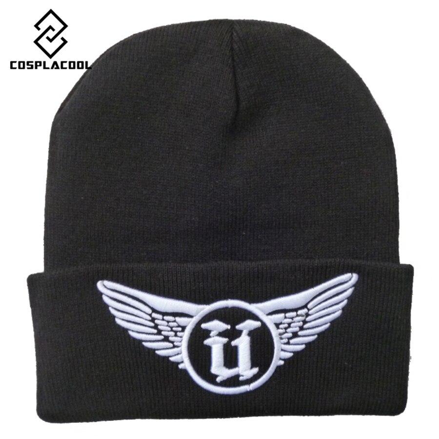 [COSPLACOOL] NEW fashion letter U knitting hat cartoon wings hip-hop cap autumn and winter street dance knitted capÎäåæäà è àêñåññóàðû<br><br><br>Aliexpress