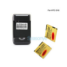 Seasonye 2x 2450mAh BD26100 Gold Replacement Battery + Charger For HTC G10 Desire HD Surround T8788 T9188 T9199 A9191 Inspire 4G