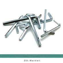 5mm , 15pcs/lot ,  Hex key , Allen wrench 45# STEEL tool  , m5 Zinc plating DIY tools , high hardness fasteners