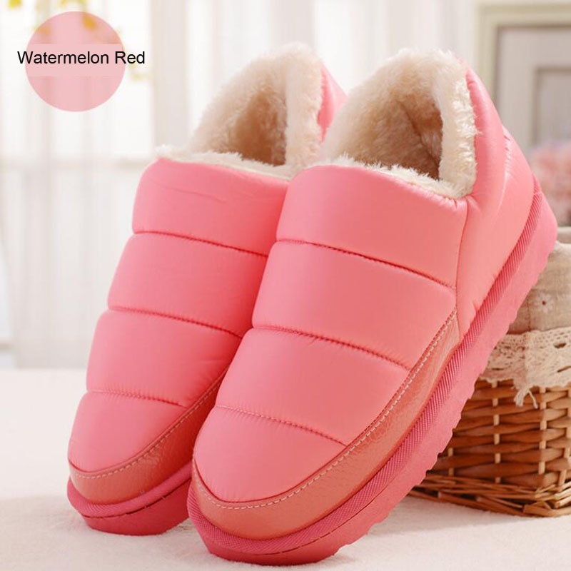 2017 warm fluff women boots fine workmanship solid color botas mujer casual slip on antiskid rubber boots for winter shoes<br><br>Aliexpress