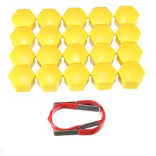 20PCs/Set 19mm Yellow Wheel Nut Bolt Cover Cap For Ford /Focus /Mondeo /Kuga C Max for Fiesta(China)