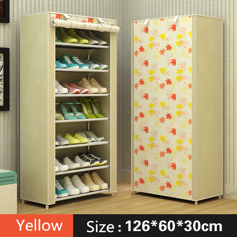 Modern minimalist shoe 8 layer non-woven dust creative combination cabinet storage rack organizer shoe storage home Furnitur 7