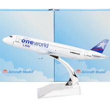 LAN Airlines Oneworld Alliance A320 16cm model airplane kits child Birthday gift plane models toys Free Shipwping Christmas gift