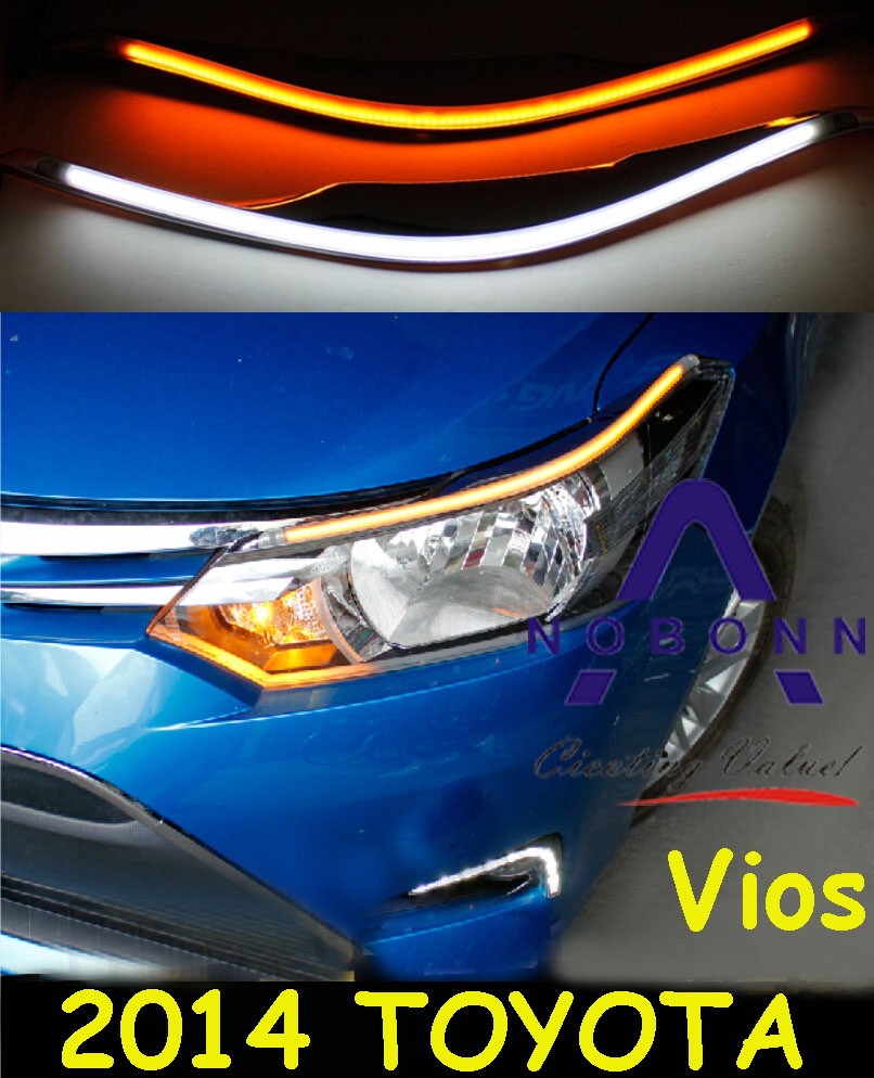 Vios daytime light,2014~2016;Free ship!LED,Vios fog light,2ps/set,Reiz,prado,camry,Vigo,Vios<br>