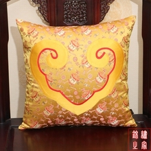 2 Size Chinese Classic Yellow Lantern Pattern Brocade and Silk Car Seat  Sofa Luxury Cushion Cover without interior