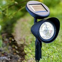 New Hot Sale 4-LED Solar Spotlight Lamp Waterproof Landscape Yard Garden Fence Path Lawn Light for All Weather