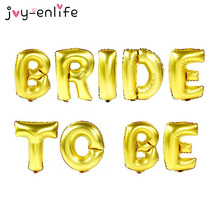 "JOY-ENLIFE 16 inch DIY Foil Letter Balloons ""BRIDE TO BE"" ""BRIDE"" Party Decor 2styles For Choose Birthday Wedding Party Supplies(China)"