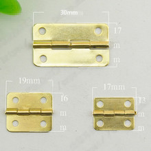 Antique Wooden Box Small Hinge 180 Degree 4 Hole For Jewelry Wine Gift Wood Case Gold Hinges Furniture Hinge(China)