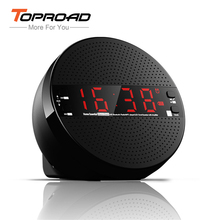 TOPROAD Portable Bluetooth Speaker Time Alarm Clock LCD FM Speakers Wireless Stereo Music Player support TF USB AUX for iPhone(China)