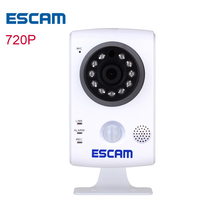 ESCAM Keeper QF502 2.8MM lens HD 720P ip camera wi-fi  home indoor security camera wireless video camaras ip wifi Nightvision
