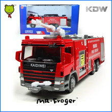 Mr.Froger KDW Diecast 1:50 Water Fire Engine Car Toy Fire Rescue Truck Models Metal Alloy Collectible Kids Toys For Children