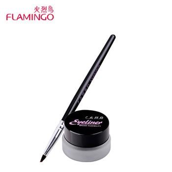 Freeshipping Beauté Yeux Maquillage Marque flamingo long-lasting souple noir anti-maculage résistant à l'eau eyeliner crème