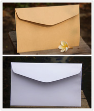 Big size 23X16cm White and Light Kraft Envelopes Party Paper Bags Favor Bags Mseeage Cards Bags(Hong Kong)