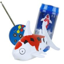 Red White Coke Can RC Mini Radio Remote Control Shark Fish Kids Electric Water Game Toy Hot #K4UE# Drop Ship(China)