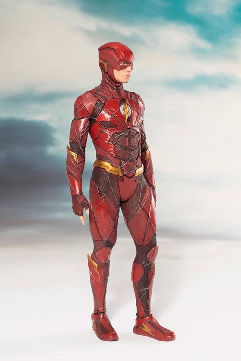 DC Justice League The Flash Cyborg Wonder Woman Batman Superman Statue ARTFX Action Figures Collection Model Toy Doll (3)