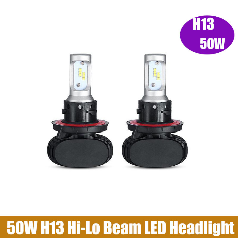 2 x 50W H13 Hi-Lo Beam H7 9005 CSP LED Car Headlight Bulbs CREE Chips 8000LM 6500K Auto LED Headlights Driving Light 12V Vehicle<br><br>Aliexpress