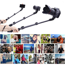 Top Quality YunTeng 088 Monopod For Gopro Selfie Stick Monopod Tripod+Phone Holder For iPhone Gopro Hero Camera HD+Free Shipping