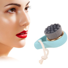 Soft Hair Facial Cleansing Brush Face Wash Brushes Bamboo Charcoal Massage Pore Cleanser Beauty Make up Skin Care Clean Brush(China)