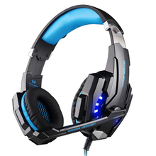 KOTION EACH G9000 Gaming Headphone Headset Earphone 3.5mm Game With Mic LED Light For Laptop Tablet/Mobile Phones/iPad/PC/laptop(China)
