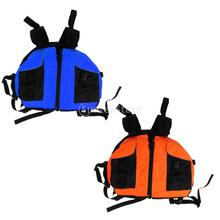 Canoe Kayaking Inflatable Boat Rafting Raft Life Jacket Swim Vest Blue/Orange