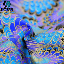 Sachet cloth imports and wind Han clothing Tangzhuang fabrics fabric peacock bronzing cloth cheongsam fabric(China)