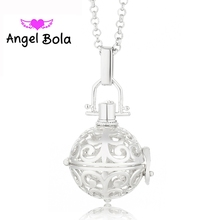 Interchangeable Angel Bola Necklaces Sound Ball Pendants in Long Chain Necklaces (20.5mm) For Women Perfume Pendant L006