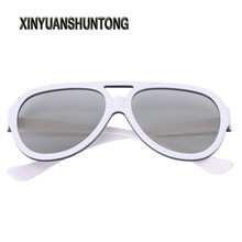 XINYUANSHUNTONG 3D Glasses Universal Circular Passive Polarized 3D Glasses For TV Real 3D Cinema 0.42mm(China)