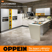 Kitchen cabinet new model from guangzhou Factory Modern Design kitchen cabinet laquer OP15-011