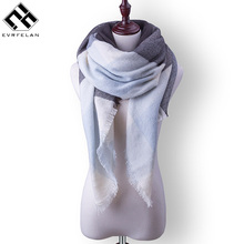 Fashion Winter Scarf For Women Plaid Cashmere Shawl Warm Women's Blanket Scarves Fashion Luxury Brand Women's Scarf