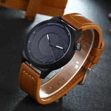 2017 creative design wristwatch camera concept brief simple design special digital discs hands fashion quartz Leather watches