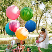 Free Shipping1pcs globos Super Large 45cm Matte Latex balloon Float air balls inflatable wedding birthday party decoration toys(China)