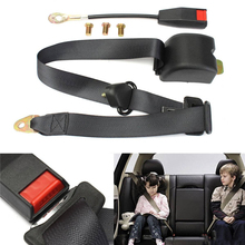 Triclicks New Adjustable Auto Vehicle Van Car Seat Belt Bolt Extension Car Seat Belts Buckle Extender Strap Safety Buckle Black(China)